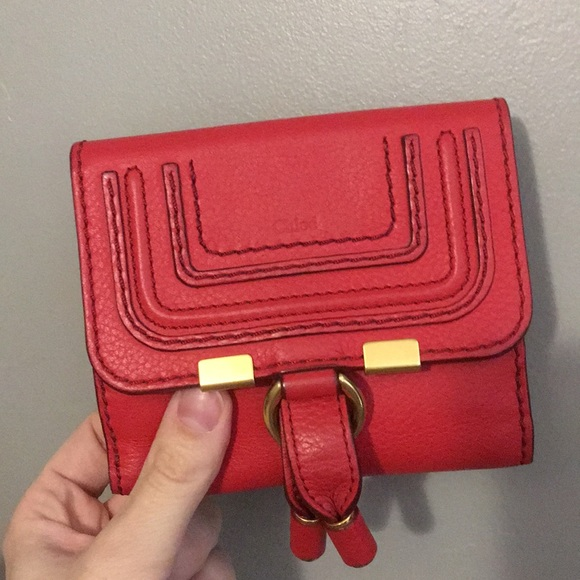 f898f7792e Chloe Handbags - Chloe Marcie French Wallet in Plaid Red